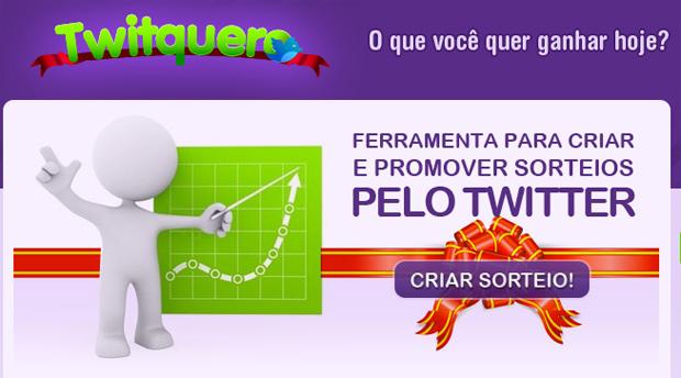 Twitquero, um site de sorteios (Foto: Reprodução)