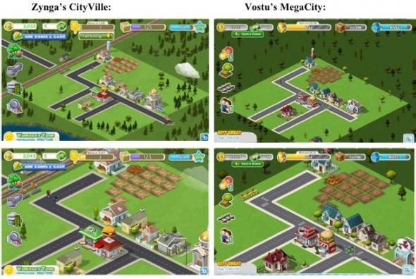 Comparação entre Zynga e Vostu (Foto: Divulgação)