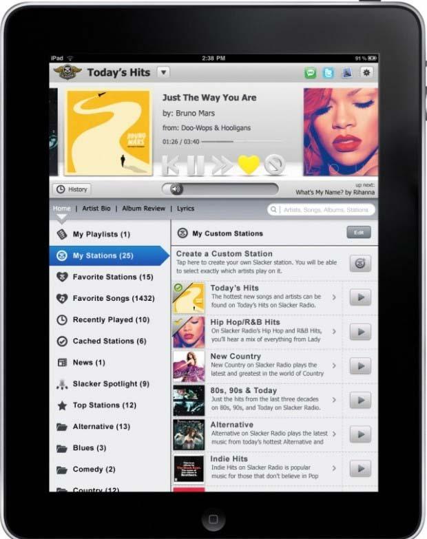 Rádio direto no seu iPad (Foto: Divulgação)
