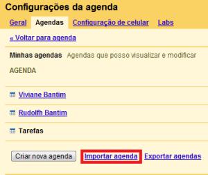 Importar agenda (Foto: Divulgação)