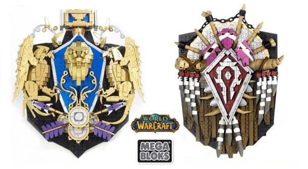 Brasões da Alliance e da Horde do WoW com Mega Bloks (Foto: Divulgação)
