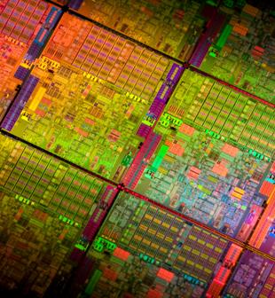 Wafer de processadores (Foto: Intel)