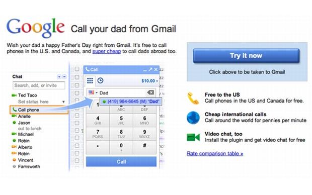 Gmail Caliing. (Foto: Divulgação)