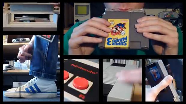 sonzinho com um NES (Foto: Reprodução)