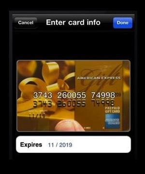 Reconhecimento numérico do cartão (Foto: Divulgação)