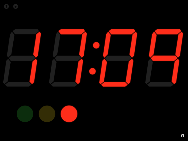 Cronômetro do SpeakerClock (Foto: Reprodução/Camila Porto)