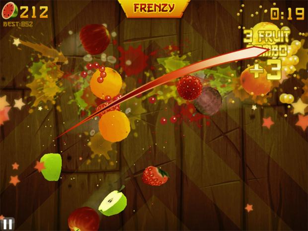 Desafio de corte de frutas em fruit ninja foto divulgação