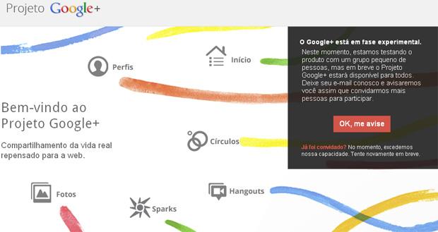 A nova rede social do Google+ possui integração com todos os seus produtos, inclusive seus smartphones Android (Foto: Reprodução)