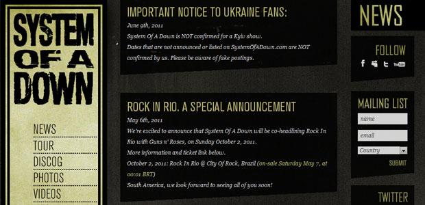 System of a Down (Foto: Reprodução)