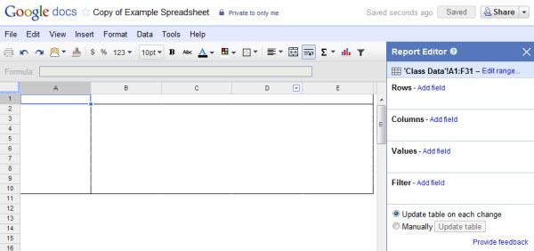 Tabela criada, e o painél de edição (Foto: Reprodução)
