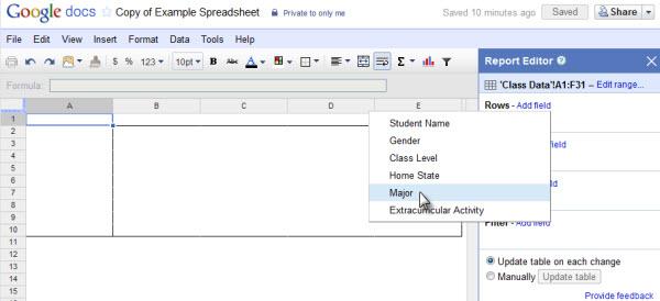 Adicionando informação das linhas da tabela (Foto: Reprodução)