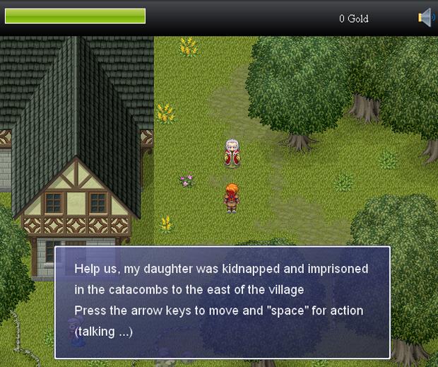 Jogo de RPG criado no RPG JS (Foto: Reprodução)