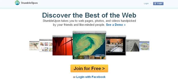 StumbleUpon cria widget para blogs (Foto: Reprodução)