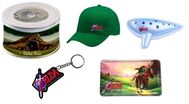 Itens de bônus na pré-venda de The Legend of Zelda: Ocarina of Time 3D na Grécia (Foto: Divulgação)