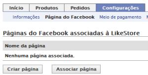 Criar ou associar o app a uma página (Foto: Reprodução/Camila Porto)