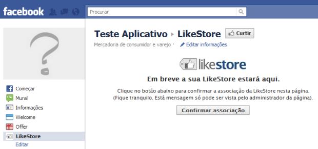 Confirmar associação de página (Foto: Reprodução/Camila Porto)