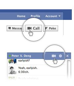 Ativando o serviço de videochamada no Facebook (Foto: Divulgação)
