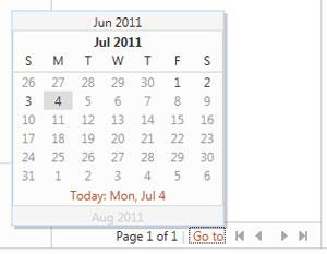 Calendário do Hotmail (Foto: Reprodução)