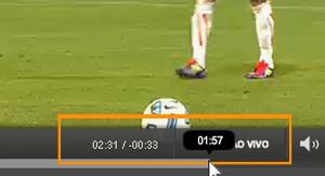 Arrastando a linha do tempo no vídeo (Foto: Reprodução)