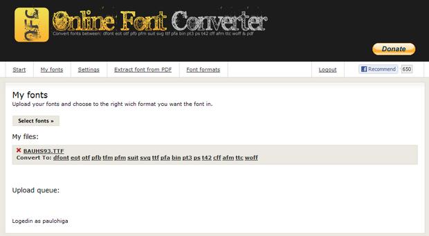 Online Font Converter (Foto: Reprodução)