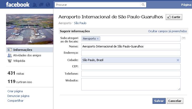 Places Editor permite que usuário coloque informações sobre estabelecimentos (Foto: Reprodução)