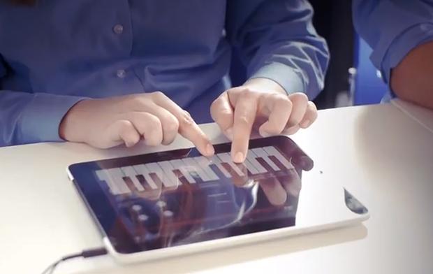 Professor usa iPad para criar música (Foto: Divulgação)