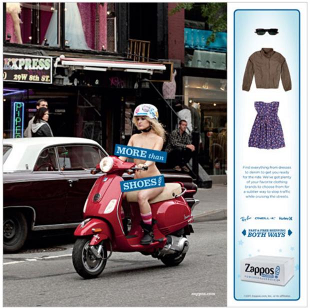 Propaganda da Zappos (Foto: Reprodução)