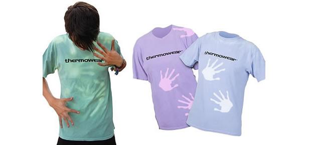 Camisa que muda de cor com o calor (Foto: Divulgação)
