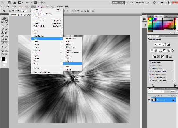 Usando o filtro Twirl (Foto: Reprodução)