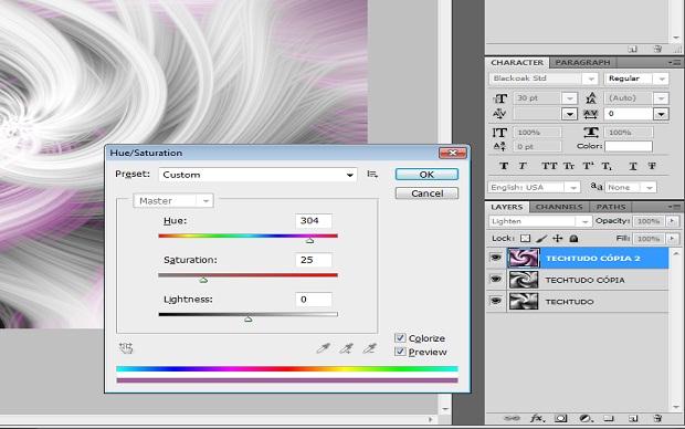 Colorindo o rodamoinho (Foto: Reprodução)
