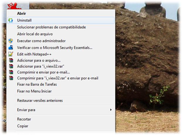 Removendo programas pelo menu de contexto (Foto: Reprodução/Emerson Alecrim)