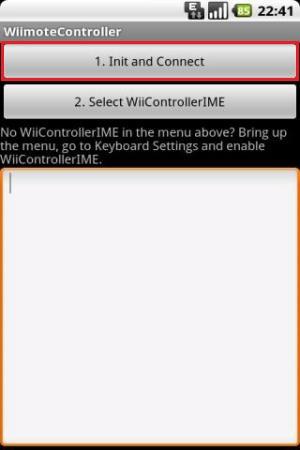 Tela de conexão Wii Remote com o smartphone (Foto: Divulgação)