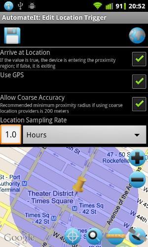 Configuração de envio de localização por SMS (Foto: Divulgação)