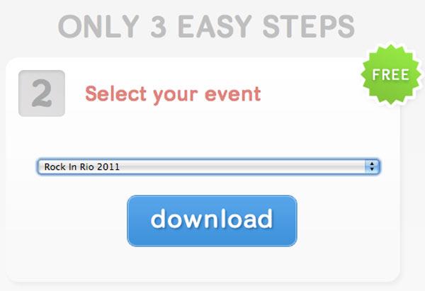 Fazendo download da lista de convidados (Foto: Reprodução)