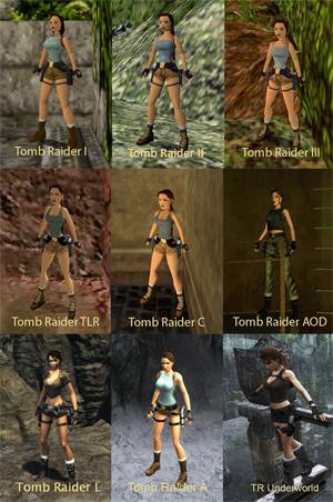 A Evolução de Lara Croft (Foto: Reprodução)