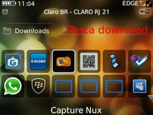Print Screen da tela do BlackBerry (Foto: Reprodução/TechTudo)