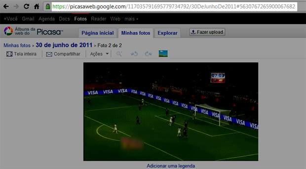 Publicando o GIF animado no Picasa (Foto: Reprodução / Teresa Furtado)