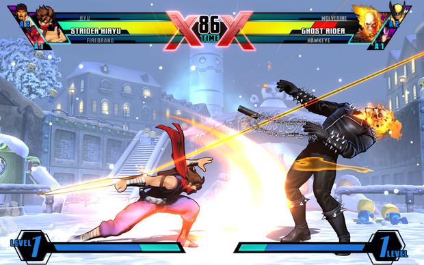 Ultimate Marvel Vs Capcom 3, Strider e Motoqueiro Fantasma (Foto: Divulgação)
