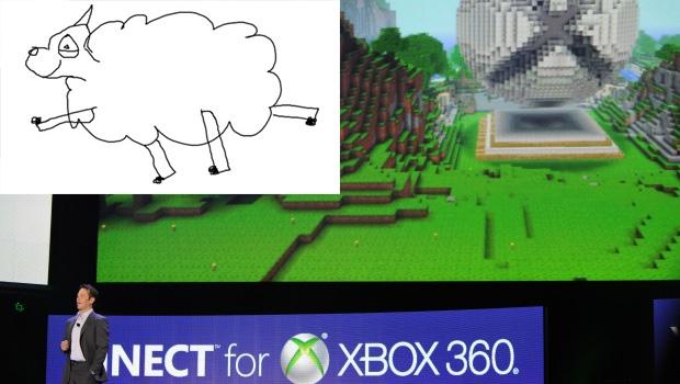 Minecraft e a ovelha que Notch desenhou (Foto: Divulgação)