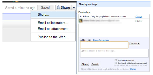 Compartilhamento e visualização (Foto: Reprodução)
