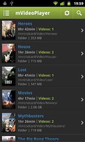 Lista de arquivos de vídeos do smartphone (Foto: Divulgação)