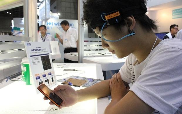 Medição da atividade cerebral através de aplicativo. (Foto: Divulgação)