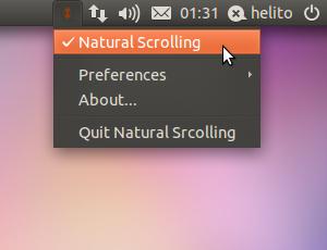 Natural Scrolling no Ubuntu (Foto: Reprodução)