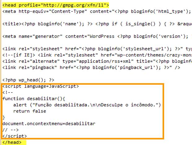 Script javascript (Foto: Reprodução)