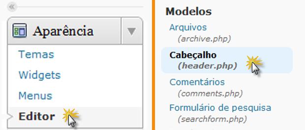Editor e Cabeçalho (Foto: Reprodução/TechTudo)