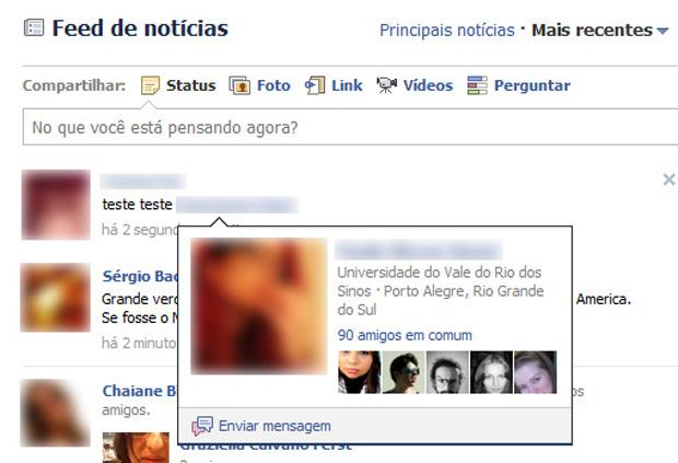 Visualizando perfil de amigo citado no Facebook (Foto: Divulgação)