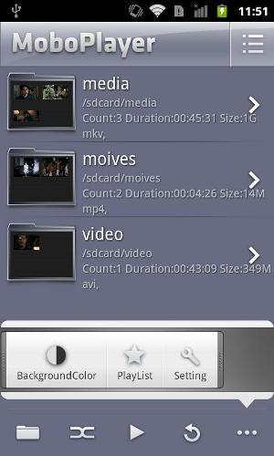 Lista de pastas e vídeos disponíveis (Foto: Divulgação)