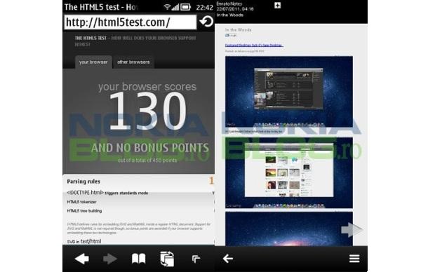O navegador do Symbian Belle tem suporte a HTML5 (Foto: Nokia Blog)