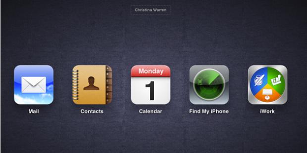 Tela do iCloud web (Foto: Mashable)