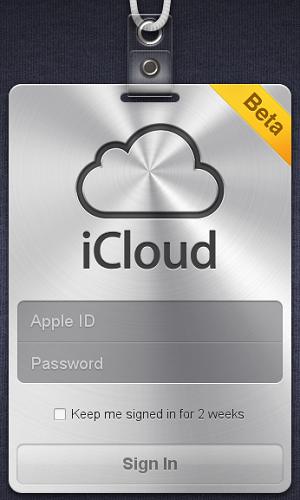 Tela de login do iCloud (Foto: Mashable)